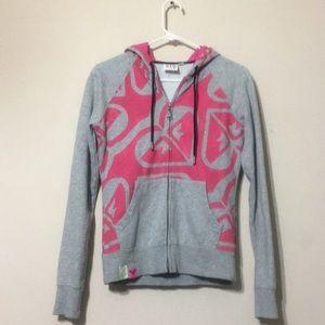 ROXY hooded zip up sweatshirt